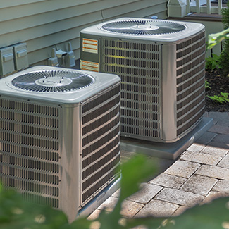 two a/c units.